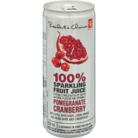 100% Sparkling Fruit Juice, Pomegranate Cranberry
