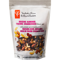 Trail Mix, Raisins/Almonds/Cashews/Cranberries