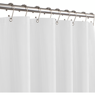 Soft PEVA Shower Curtain Liner, White