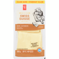 Fromage suisse en tranches, format Club