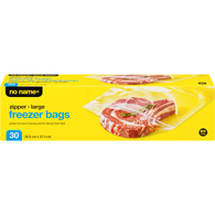 Resealable Freezer Bags, Large