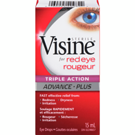 Advance Triple Action Red Eye Drops