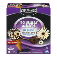 No Sugar Added Ice Cream, Vanilla Cones
