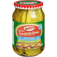 Sandwich Savers, 50% Less Salt, Dill Pickles