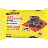 Double Chocolate Fudge Sandwich Cookie