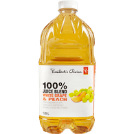 100% Juice Blend, White Grape & Peach