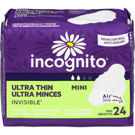 Serviettes Incognito ultra minces Invisible, mini