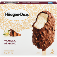 Ice Cream Bars, Vanilla Almonds
