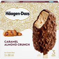 Ice Cream Bars, Caramel Almond Crunch