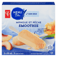 Barres smoothie aux fruits mangue et pêche Menu bleu