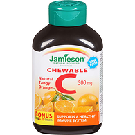 Chewable Vitamin C 500mg, Tangy Orange