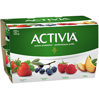 Strawberry/Blueberry/Raspberry/Peach 2.9% M.F. Probiotic Yogurt,12x100g