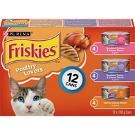 Poultry Lovers Cat Food Variety Pack 12-156g Cans