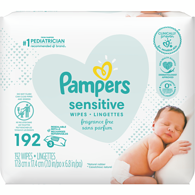 Sensitive Baby Wipes, 3x Refills