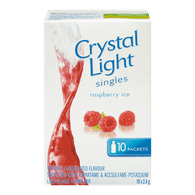 Crystal Light Singles, Raspberry Ice