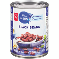 Blue Menu Black Beans, No Salt Added