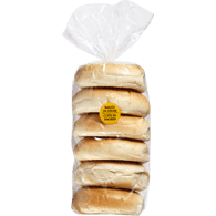 Bagels, Plain Package of 6