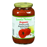 Organic Pasta Sauce, Tomato with Roasted Garlic