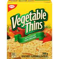 Vegetable Thins, Less Fat
