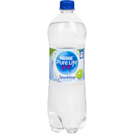 Pure Life Sparkling Natural Spring Water, Lime