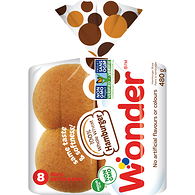 Wonder Plus Hamburger Rolls, Whole Wheat