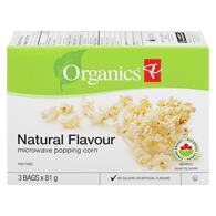 Microwave Popcorn, Natural