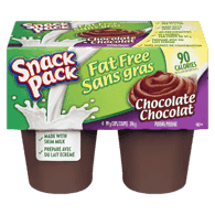 Snack Pack, Pudding, Fat Free Chocolate