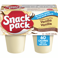 Snack Pack, Pudding, No Sugar Added Vanilla
