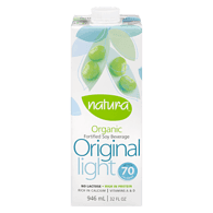 Organic Soy Beverage, Enriched Original Light