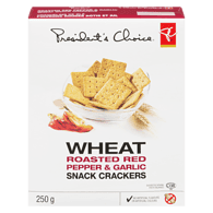 Wheat Crackers, Roasted Red Peppers