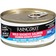Wild Sockeye Salmon, No Added Salt