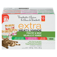Extra Meaty Dry Cat Food, Variety Pack