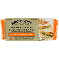Seafood Snacks, Louisiana Hot Sauce