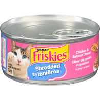 Shredded Chicken & Salmon Dinner Cat Food