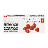 Medium Heavy-Duty Double Zipper Freezer Bags