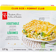 Lasagna, Vegetable Frozen Club Pack