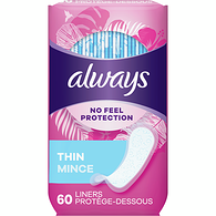 Unscented Panty Liners, Thin