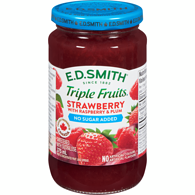 Triple Fruits No Sugar Added Strawberry Raspberry & Red Plum