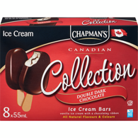 Canadian Collection Ice Cream Bars, Double Dark Chocolate