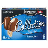 Canadian Collection Ice Cream Bars, Creamy Milk Chocolate