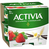 Strawberry/Vanilla 2.9% M.F. Probiotic Yogurt,8x100g