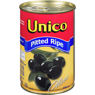 Olives, Medium, Ripe, Pitted