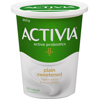 PURE Plain Sweetened 3.2% M.F. Probiotic Yogurt,650g