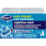 Extra Strength Cold Medication, Nighttime Relief