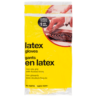 Latex Rubber Gloves, Medium
