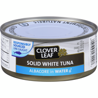 Solid White Tuna, Albacore In Water