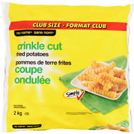 Fried Potatoes, Crinkle Cut