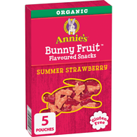 Annie's Organic Bunny Fruit Snacks, Summer Strawberry