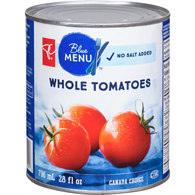 Blue Menu Tomato, Whole No Salt
