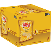Potato Chips, Classic 6x28g bag - Multi-pack